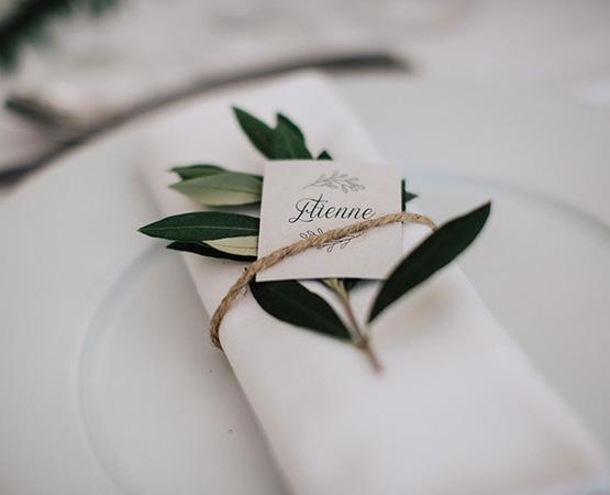 Pastilles et Petits Pois marque place mariage