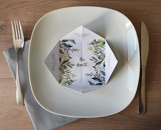 menu cocotte personnalisable mariage anniversaire bapteme