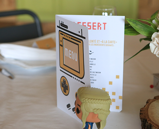 menu de table geek