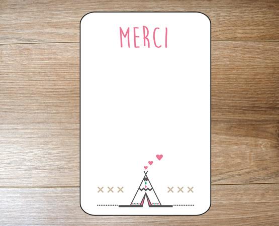 Remerciement naissance Carte Minimerci | faire-part attrape-rêves | Pastilles et Petits Pois