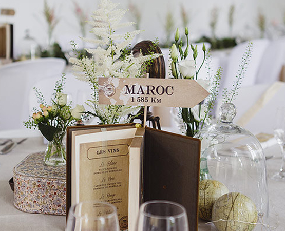 Pastilles et petits pois nom de table panneau direction mariage th me voyage - Idee nom table mariage ...