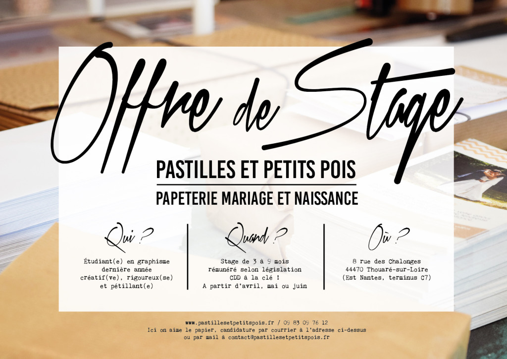 offre stage graphisme nantes 2017