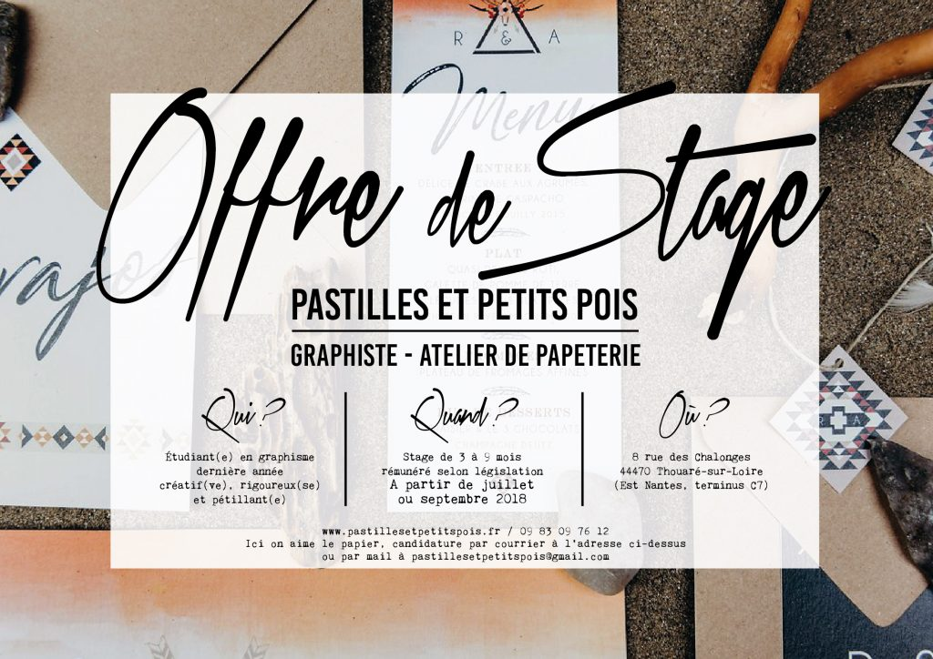 offre stage graphisme nantes