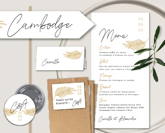 papeterie mariage personnalisée décoration mariage originale inspiration