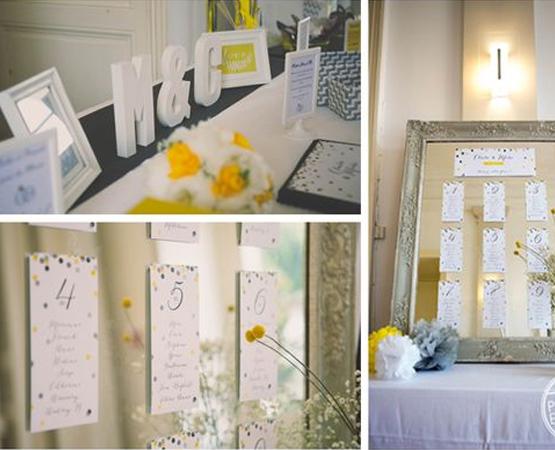 plan de table mariage miroir