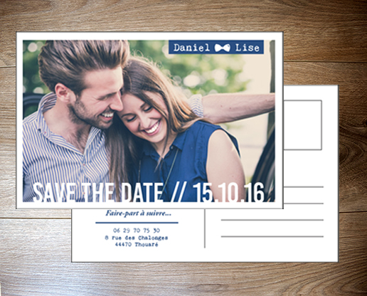 Save the date carte postale