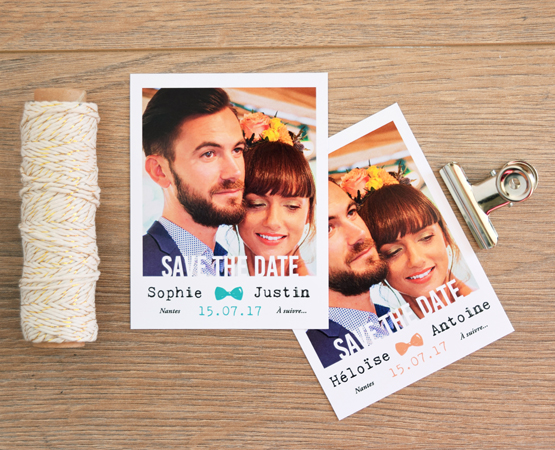 save the date mariage magnet polaroid