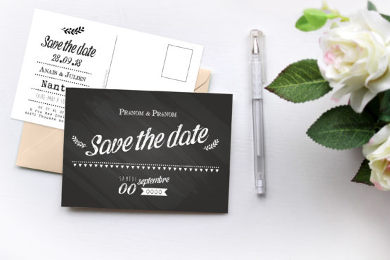 save the date mariage personnalisable