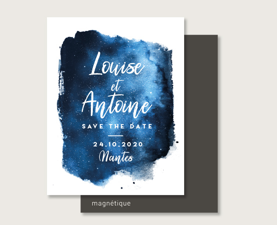 save the date mariage magnet polaroid personnalisable
