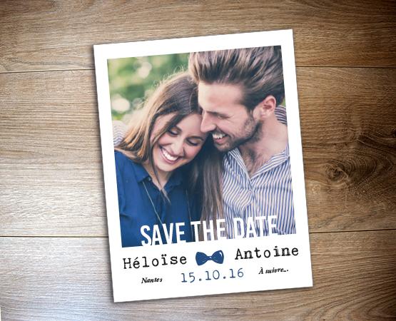 Save the date magnet polaroïd par Pastilles et Petits Pois