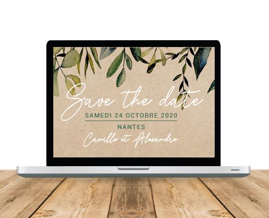 save the date mariage numérique
