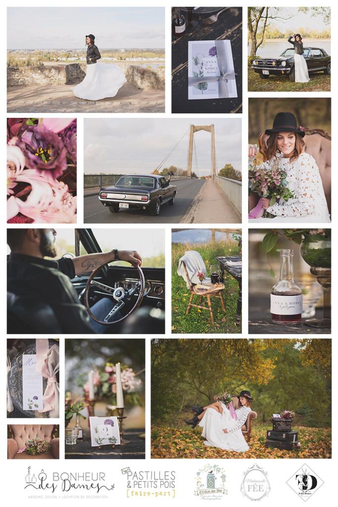 shooting mariage naturel gris violet fleurs automne nantes angers