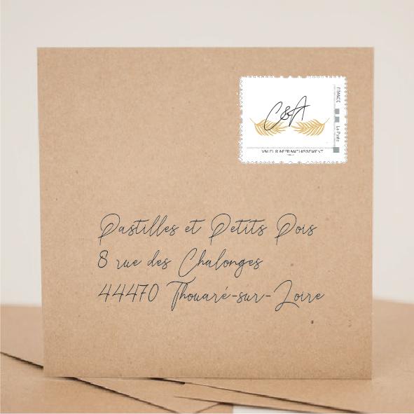 création faire part mariage et faire part naissance - timbre personnalisé